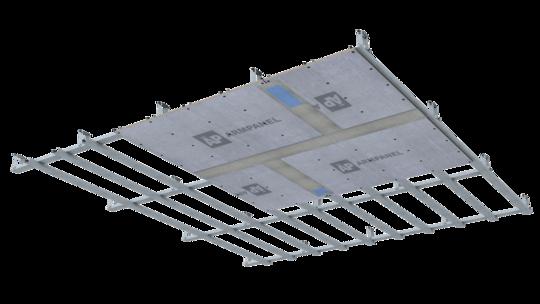 Область применения АрмПанели для потолков очень широка
